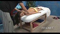 Мамку оттрахали во время массажа
