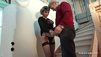 Horny french mom hard anal pounded and facial j...