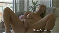 Hot blonde creates an erotic atmosphere to give... thumb