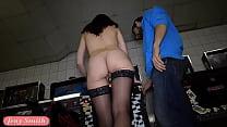 Jeny Smith undresses at public show room thumb