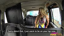 Female Fake Taxi Shocked Firemans hose gets dra...