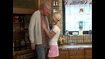 daughter blonde and daddy old Horny