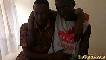 African barebackers deep throating