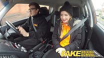 Fake Driving School Pigtailed cutie gets a face full of cum porn videos