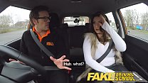 Fake Driving School Instructor gets titty wank from busty british babe porn videos
