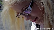 She Is Nerdy - Cumshot on glasses makes nerdy g...