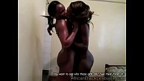 2 horny african lezzies got tapped while pleasing each other