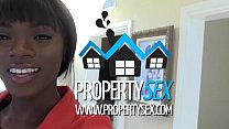 PropertySex - Beautiful black real estate agent...