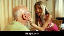 sexy blonde teen satisfy her rich grandpa lover