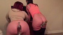 Big booty queens Virgo peridot and marcy diamond bottles in their ass cracks