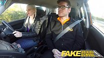 Fake Driving School big tits hairy pussy student has creampie and squirts porn videos