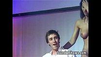 Horny stripper pleasuring a lucky guy