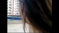 Minha namoradinha se exibindo de fio dental para todo o mundo ;)