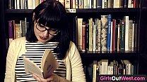 Girls Out West - Hairy lesbian girls in book store
