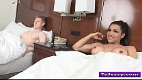 shemale jessy dubai gives head and gets fucked in hotelroom