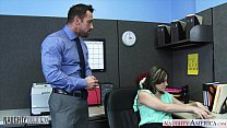 Babe in pantyhose Addie Juniper fucking in the office porn videos
