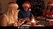 Mr Nobel Santa's helper fucks the nasty girl to...