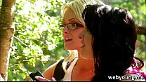 sex oral with scene lesbian Outdoor
