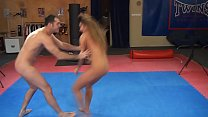 Cathy Heaven vs. James - nude erotic mixed wres...