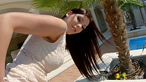 Givemepink Hot classy slut puts two dildos in h...