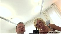 Damn blonde MILF Dyana with a big tits goes hardcore sex with Rocco porn videos
