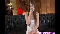 Smiling Asian chick Ichika enjoys plenty of coc...