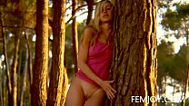German Busty Blonde Teen Corinna At Sunset