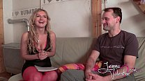 Jemma Valentine 'The Interview' casting with amateur guy