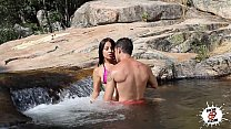 Susana Alcalá en el rio - Outdoor sex - Latina
