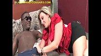 Tattooed Blonde Cougar Deepthroat Hung Black