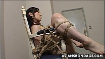 ondage and dildo fuck for an asian babe