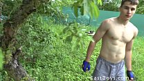shower and workout outdoor - boy Muscle