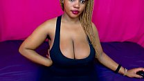 Hot Black Girl Jiggles Her Huge Titties - DamnC...