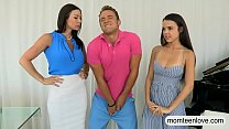 Kendra Lust and Shae Summers horny trio on the ...