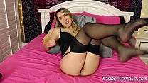 kimber lee makes you cum in her nylon stockings