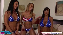 sexy girls jessica jaymes lisa ann and nicole aniston sharing cock