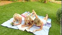 Paulina, Gina and Rene in Lesbian erotic sex th...