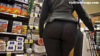25 booty thong visible leggings See-through
