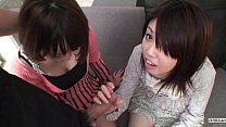 Subtitled Uncensored POV Japanese CFNM threesom...