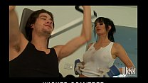 big tit brunette slut trainer alektra blue fucks big dick in gym