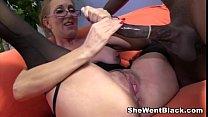 Sexy Cougar Jenna Covelli seduces two big black...