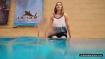 Teen girl Avenna is swimming in the pool porn videos