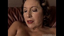 Gorgeous granny with nice big tits fucks her ju...