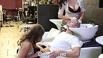 salon beauty at threesome have holly and lily babes - Fantasyhd
