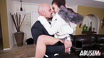 Petite babysitter gets pussy abused by horny du...