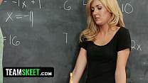 innocenthigh sexy blonde schoolgirl banged in the classroom