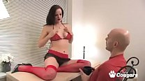 Janessa teases her man and masturbates in front...