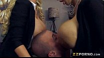 Massive boobs teachers Nikki Benz and Amy Anderssen threesome porn videos