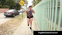 Cuban BBW Angelina Castro Blows A Jogger's Cock...