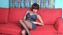 Long luxury legs of redhead MILF LilyWOW in sex...